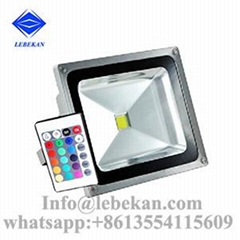 Hot selling 5000k 6000k remote control 50w 100w rgb led flood light ip65