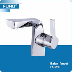 Deck mounted brass wash basin faucet