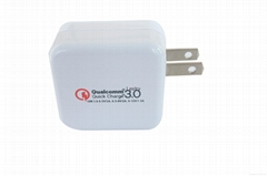 Wholesale mobile charger folded Quick charge 3.0 phone charger power adapter