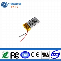 80mAh PATL501220蓝牙耳机聚合物锂离子电池