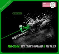 Waterproof green laser pointer