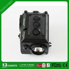 Mini laser sight and flashlight combo