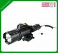 Subcompact green laser sight for pistol