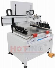 Electric screen printing machine, screen printer