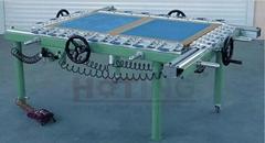 Mechanical mesh stretching machine, screen stretching machine, screen stretcher