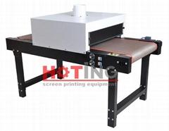 Screen printing tunnel dryer, screen printing conveyor dryer, screen tunneldryer