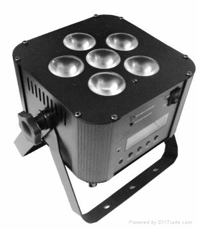Wireless DMX 6pcs RGBWA UV led par light 1