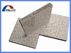 Stone grain aluminum honeycomb composite panel for building facade wall cladding