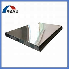 Stainless steel honeycomb panel with mirror finish effect surface treament for d