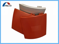 Exterior Building Facade Cladding Used Curved Shape Cambered Aluminum Solid Pane