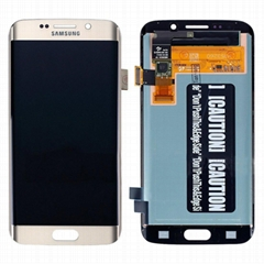 For Samsung Galaxy S6 Edge LCD Touch Screen Glass Panel Digitizer Assembly gold