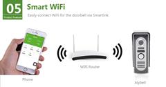 Smartphone/Tablet APP 8M night vision infrared IP waterproof video WiFi doorbell