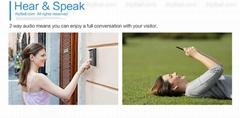 Smartphone unlock rainproof video wifi wireless outdoor bell doorbell intercom