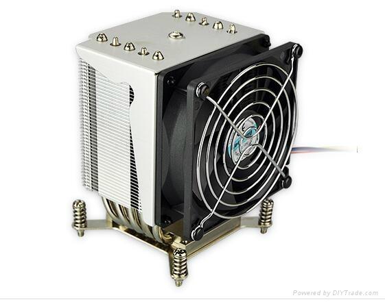 TDP135W Aluminum 3U 4U  heat pipe Server heat sink design 3