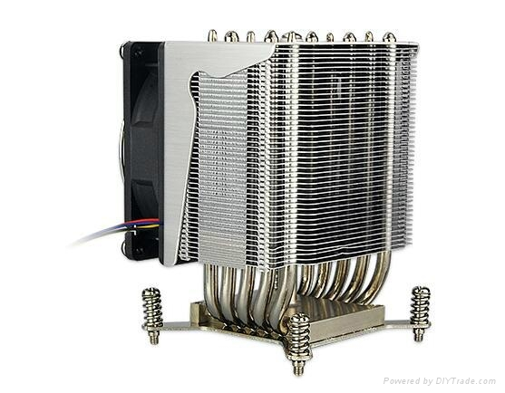 TDP135W Aluminum 3U 4U  heat pipe Server heat sink design 1