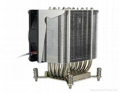 TDP135W Aluminum 3U 4U  heat pipe Server heat sink design