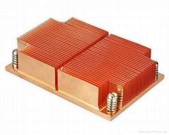 Intel LGA 2011/1155/1156/1356 Standard Copper skived 1u cpu heat sink