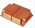 Intel LGA 2011/1155/1156/1356 Standard Copper skived 1u cpu heat sink 2