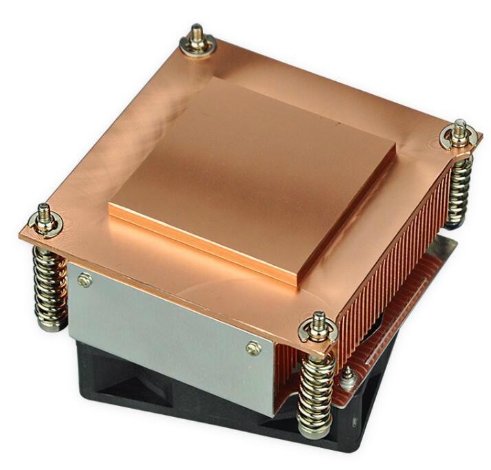 Manufacture Intel 775/776 1.5U copper skived/extrused heat sink radiator 1