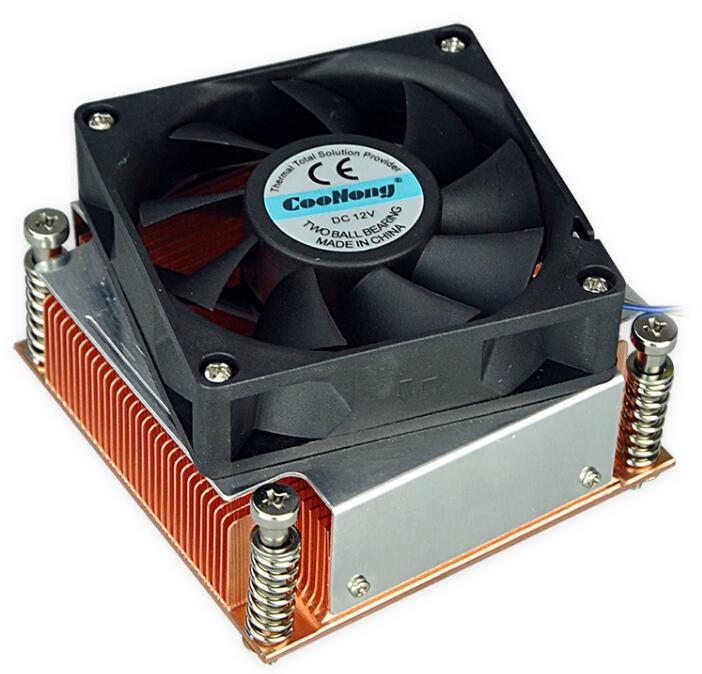 Manufacture Intel 775/776 1.5U copper skived/extrused heat sink radiator 2
