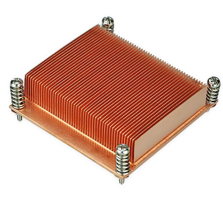 China Intel Socket  LGA1355 1366 1u copper passive VGA CPU heat sink cooling  1