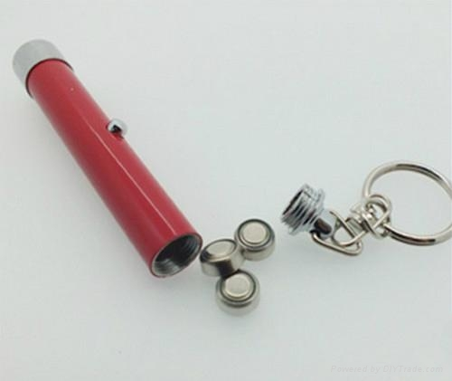 promotional gift LED Projector keychain flashlight torch 3