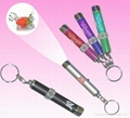 promotional gift LED Projector keychain flashlight torch 5