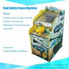 Kiddie Shoot Coin-opeater Game machine Tank Battle