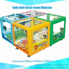 Kiddie Entertainment Coin-opeater Cube Doll Crane Machine