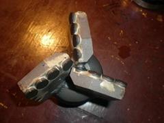 Three-Wing non-core type compact drill bit for sale