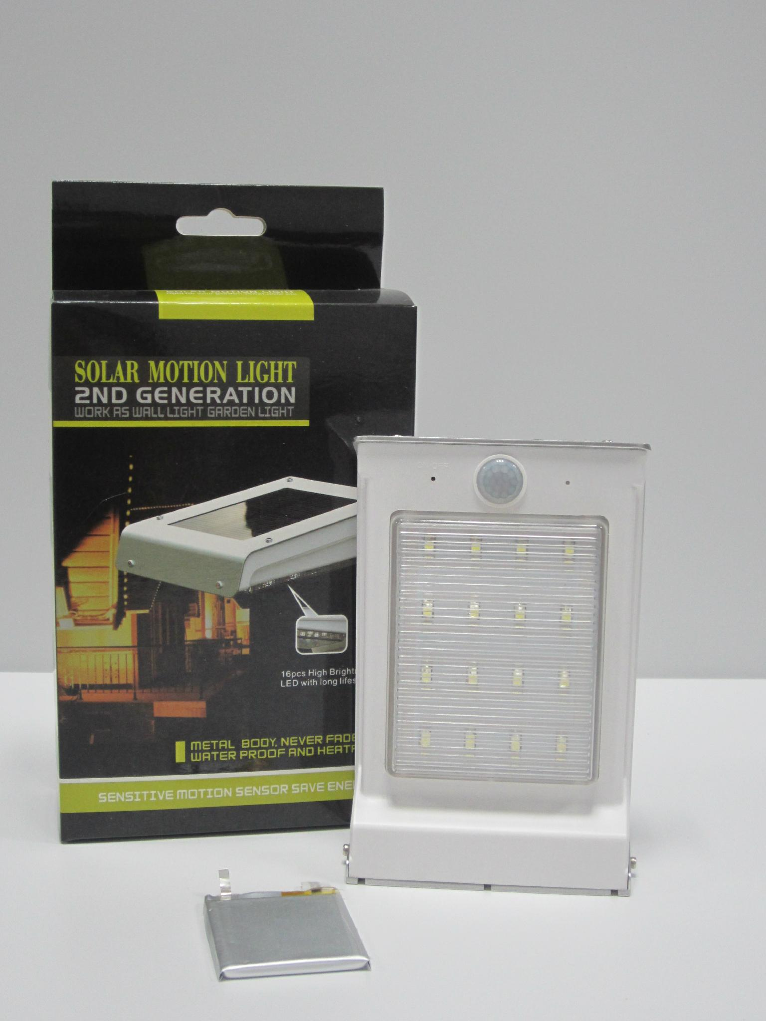 Solar Motion Light With AAA Removable Battery 4