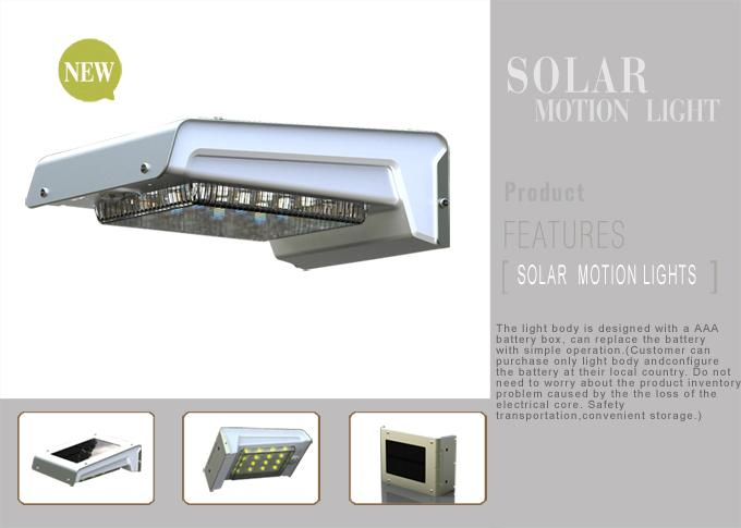 Solar Motion Light With AAA Removable Battery 2