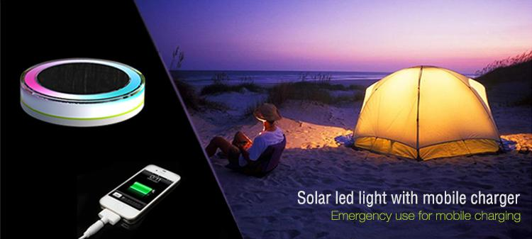 Solar camping light with mobile charger 3