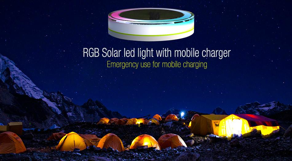 Solar camping light with mobile charger 4