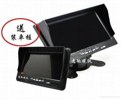AHD7寸车载显示器,四路视频高清显示