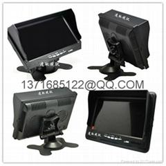 遠馳視訊7寸車載液晶顯示器模擬同軸高清信號輸入