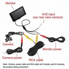 4.3寸鏡面微型顯示屏監控器