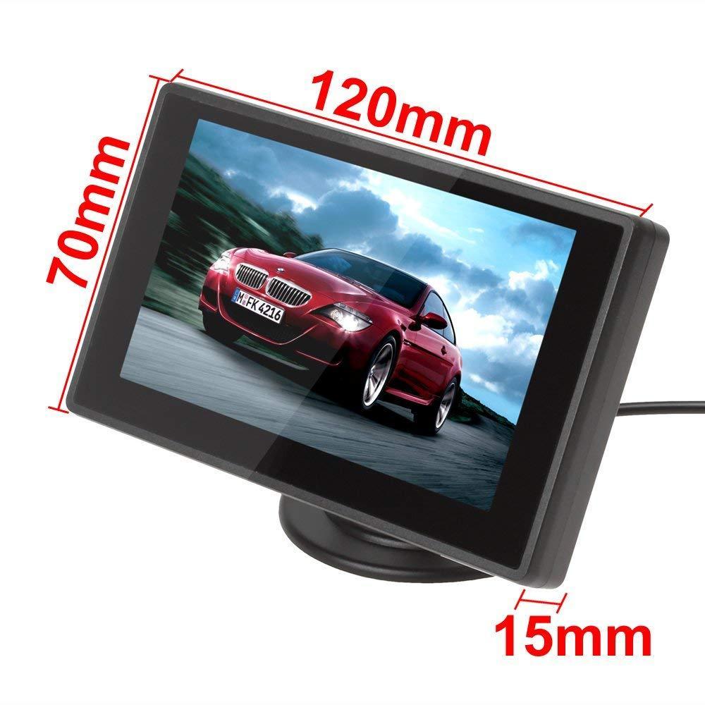 4.3寸鏡面微型顯示屏監控器 5