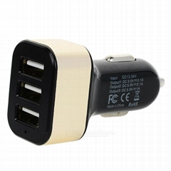 5V / 4.1A 3-Port USB Car Charger/Adapter For iPhone Samsung Tablet PC (12-24V)