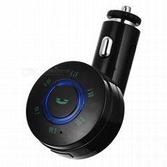 Bluetooth MP3 Player FM Transmitter Hands Free Car Kit with USB Car Charger