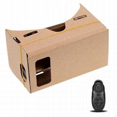 google谷歌3D卡纸纸板虚拟现实眼镜带蓝牙遥控器