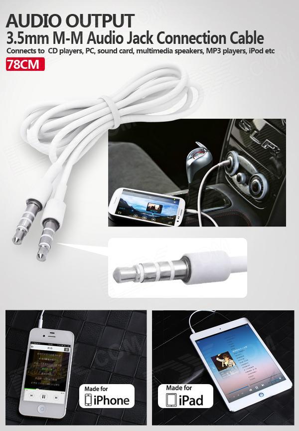 3.5mm M-M Male to Female Jack Audio/AV Cable For Speaker Studio Hearphone 3