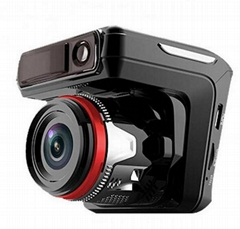 Full HD 1080P Mobile Car DVR with GPS, Dash Cam Dual Camera GPS