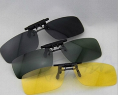Stylish Resin Clip-on Polarized Frameless night-vision goggles Sunglasses