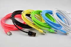 2m 3m Colored 8Pin Lightning USB Data Charging Cable For iPhone 5 6 iPads