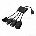 Micro usb Male to USB 2.0 + Micro USB