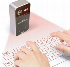 Projection Wireless Bluetooth Virtual Keyboard w/ Laser Mouse for Tablet Phone