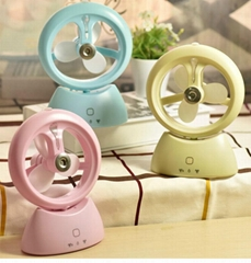 Rechargeable Mini USB mute spray cooling fan humidifier holding air conditioning