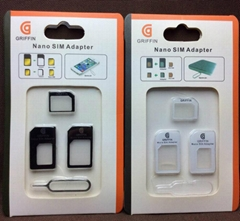 Grifin Nano SIM Card to Micro / Standard SIM Card Adapters for IPHONE Samsung