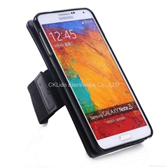 Dismountable Leather Magnetic Armband Case for Note 4 5 S6 S7 iPhone 6 7 Plus